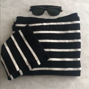 Adorable boat neck striped sweater